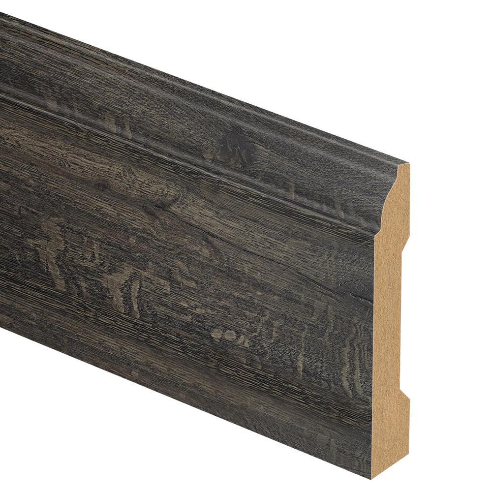 Hawthorne Mill Oak/Grey Prestige Oak 9/16 in. Thick x 3-1/4 in. Wide x 94 in. Length Laminate Base Molding