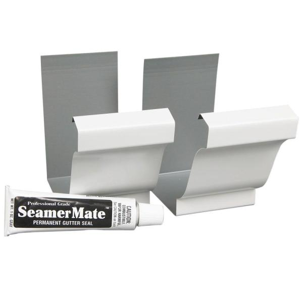 5 in. White Aluminum Seamers with Seamermate (2-Pack)