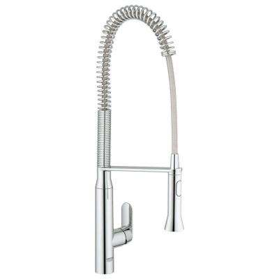 Exceptional K7 Semi Pro Single Handle Pull Out Sprayer Kitchen Faucet In StarLight  Chrome