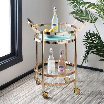 Sienna 2-Tier Gold Bar Cart