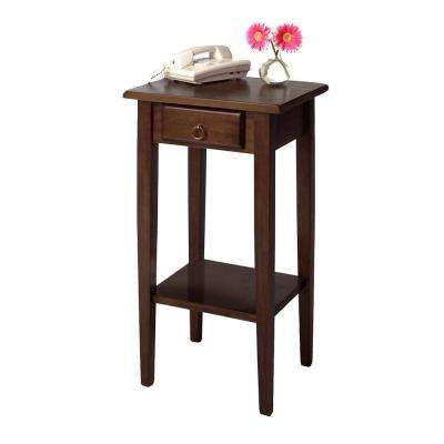 Regalia Accent Table with Drawer in Walnut Finish