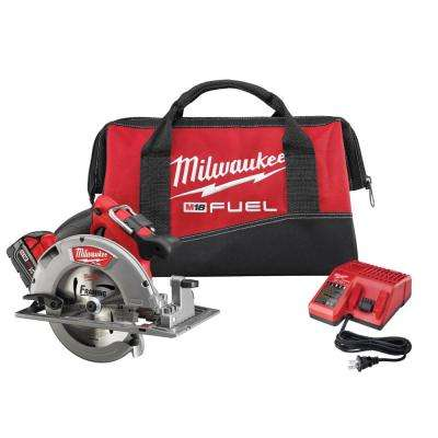 M18 FUEL 18-Volt Lithium-Ion Brushless Cordless 7-1/4 in. Circular Saw Kit w/ (1) 5.0Ah Battery, Charger, Tool Bag
