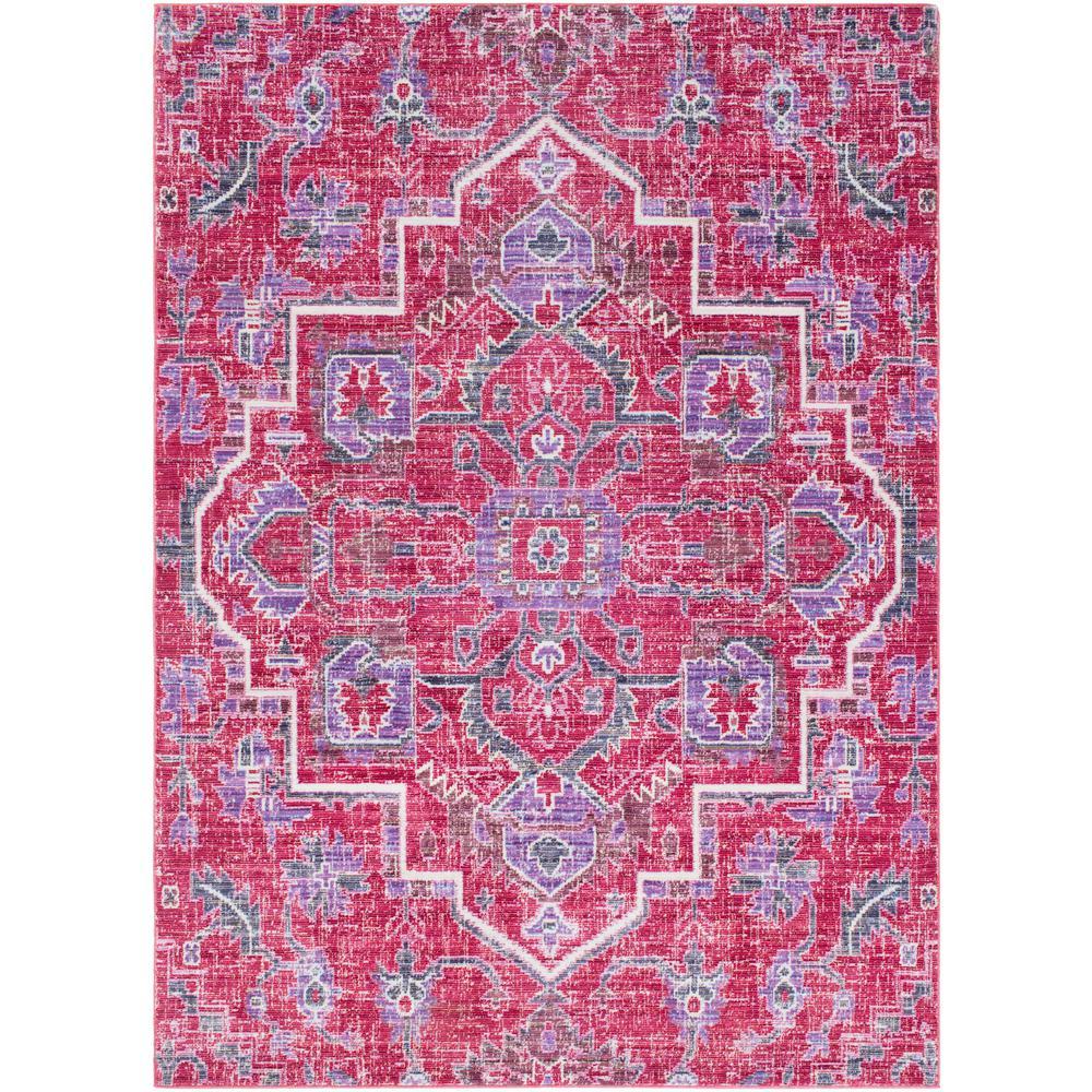 Germili Bright Pink 5 ft. x 8 ft. Indoor Area Rug