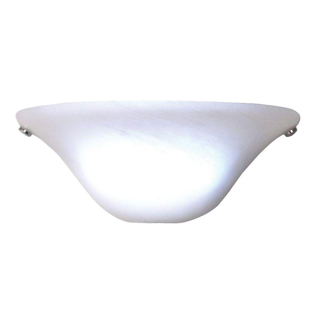 Top It's Exciting Lighting White Half Moon Sconce with Frosted Marble  NV48