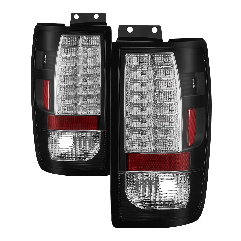 Ford Expedition 97 02 Version 2 Led Tail Lights Black