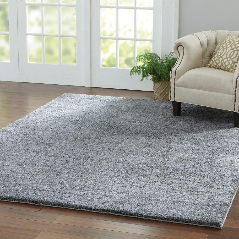 Home Decorators Collection Ethereal Shag Gray 8 ft. x 8 ft. Square Indoor  Area Rug