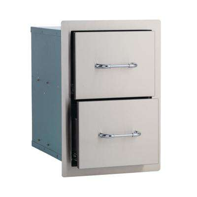 12.75 in. Stainless Steel Double Drawer