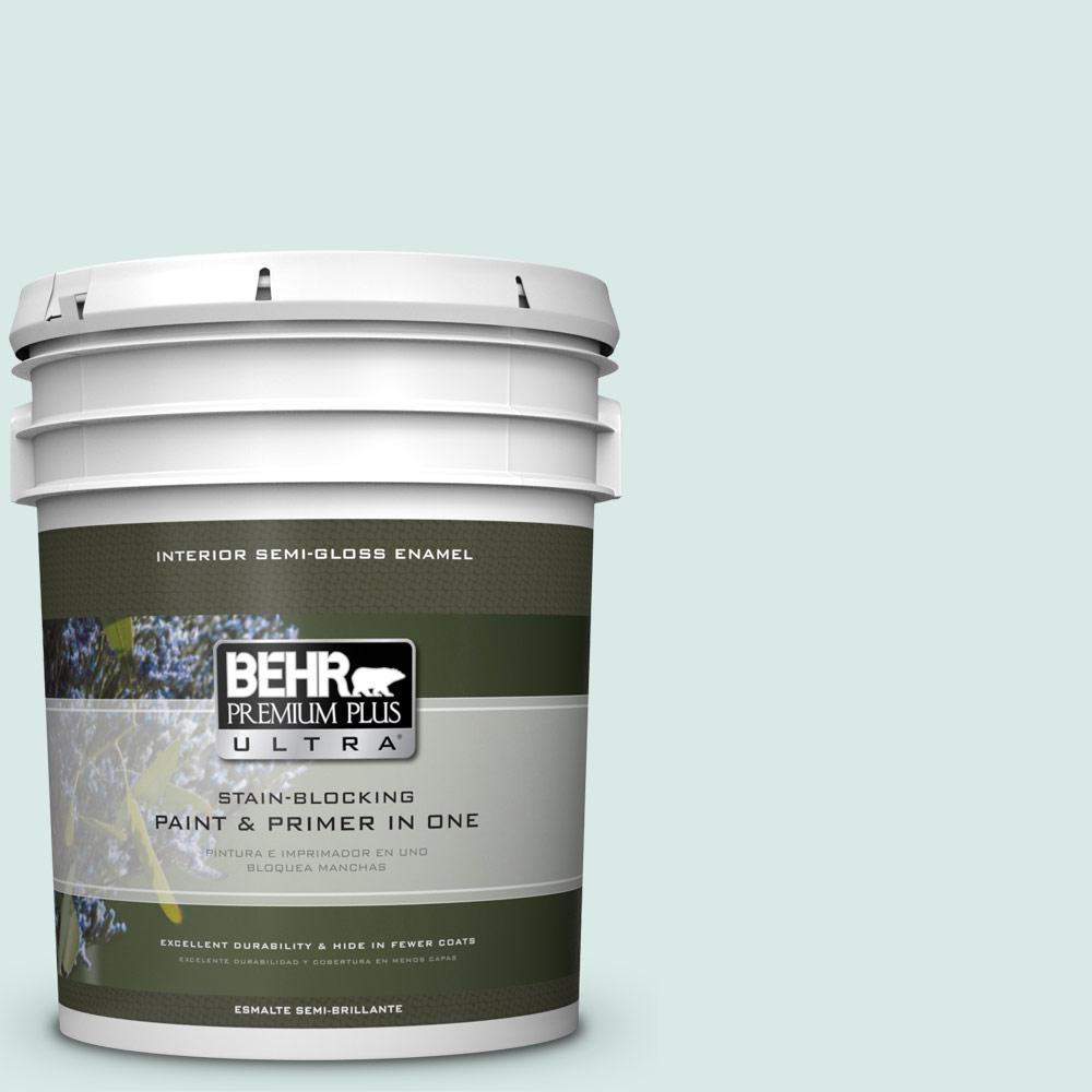 5 gal. #HDC-WR15-5 Arctic Flow Semi-Gloss Enamel Interior Paint