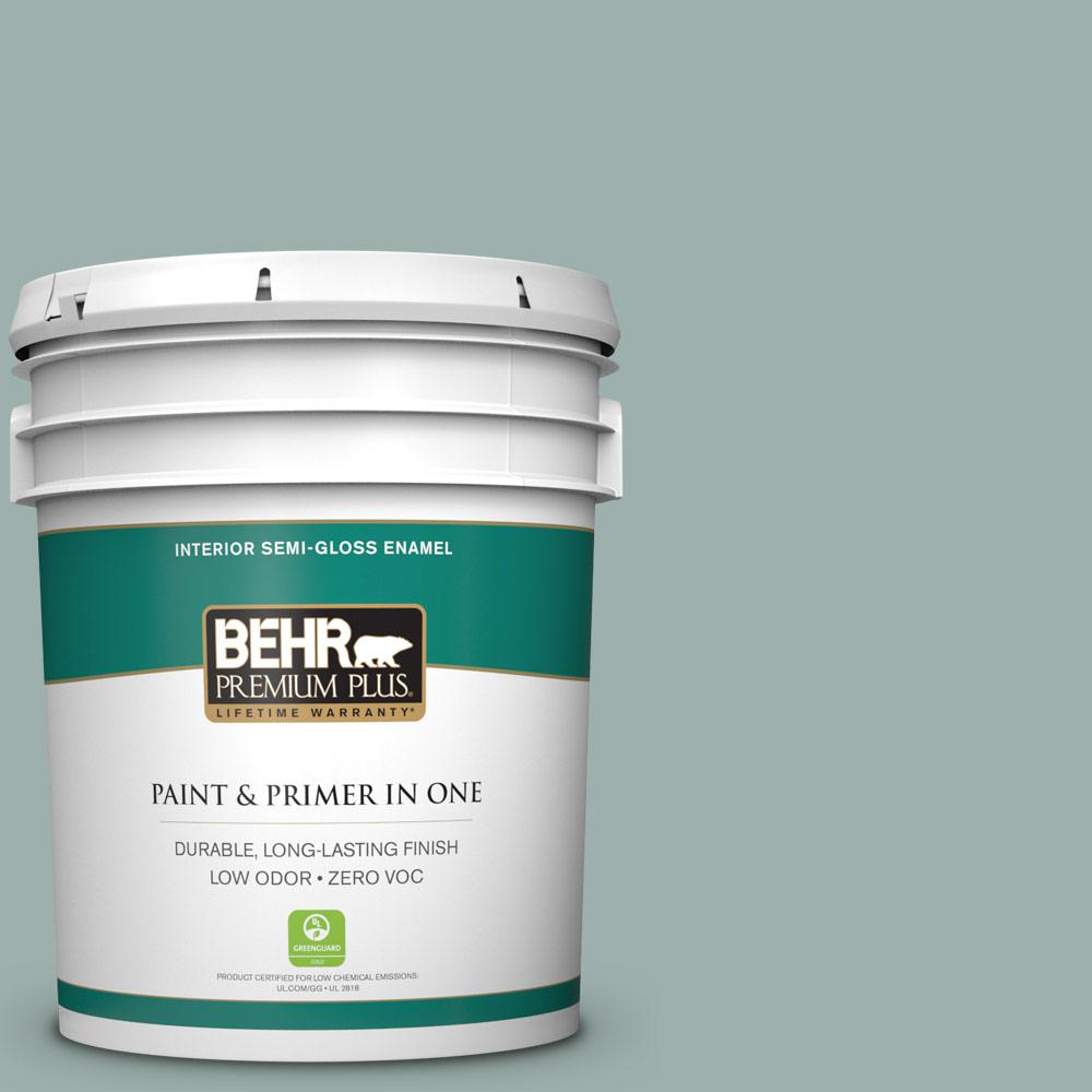 BEHR Premium Plus 5-gal. #N430-3 Garden Vista Semi-Gloss Enamel Interior Paint