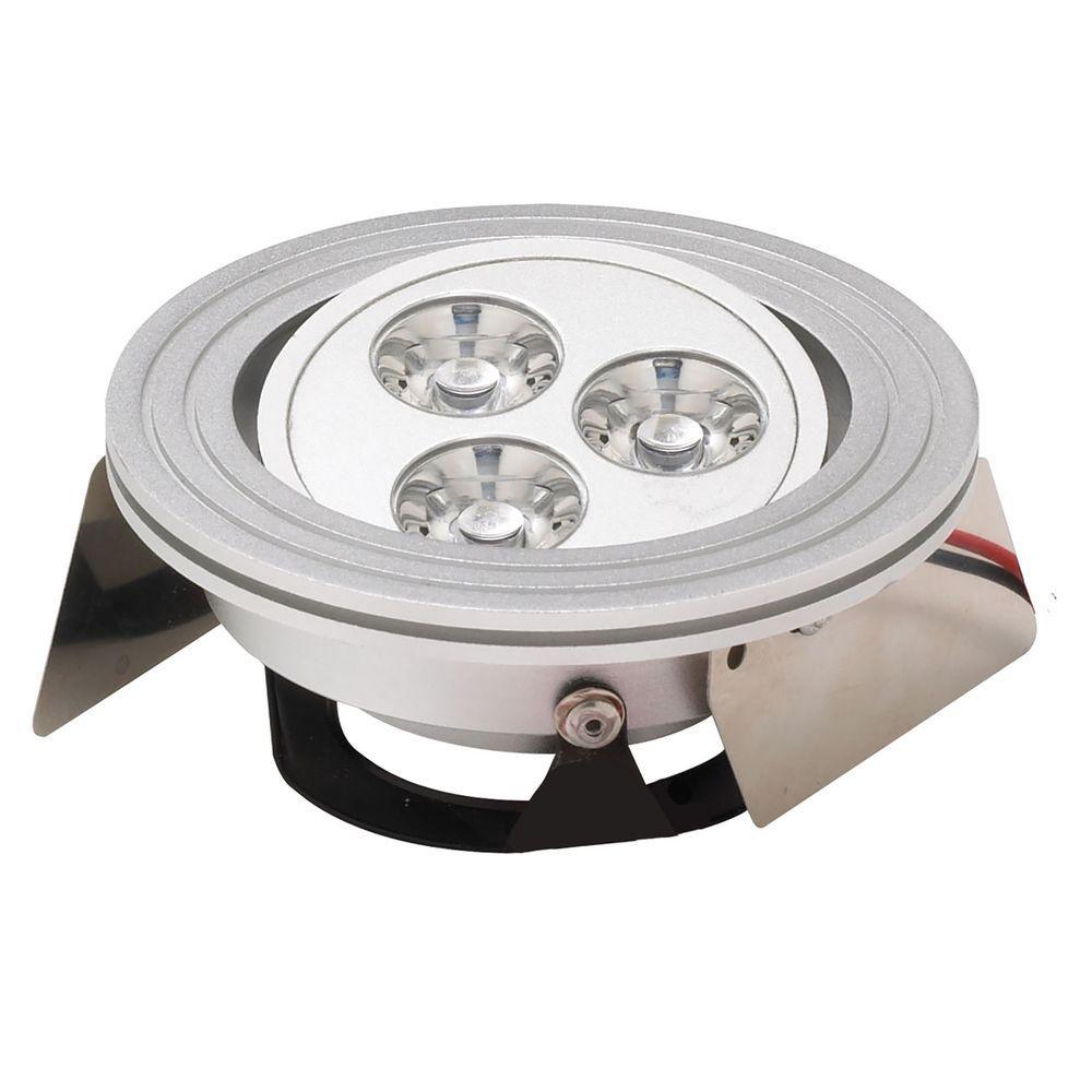 Tiro 3-Light Brushed Aluminum LED Downlight