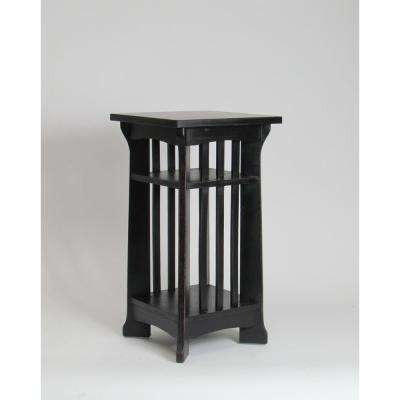 Antique Black Temple Pedestal