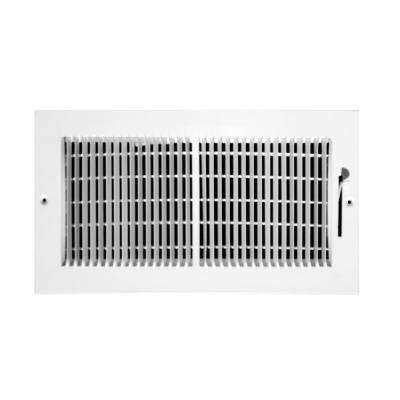 10 in. x 6 in. 2 Way 1/3 in. Fin Spaced Wall/Ceiling Register