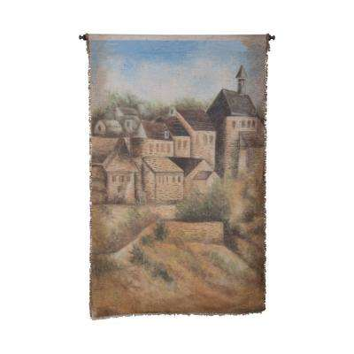 "Multicolor ""House Line"" Wall Tapestry"