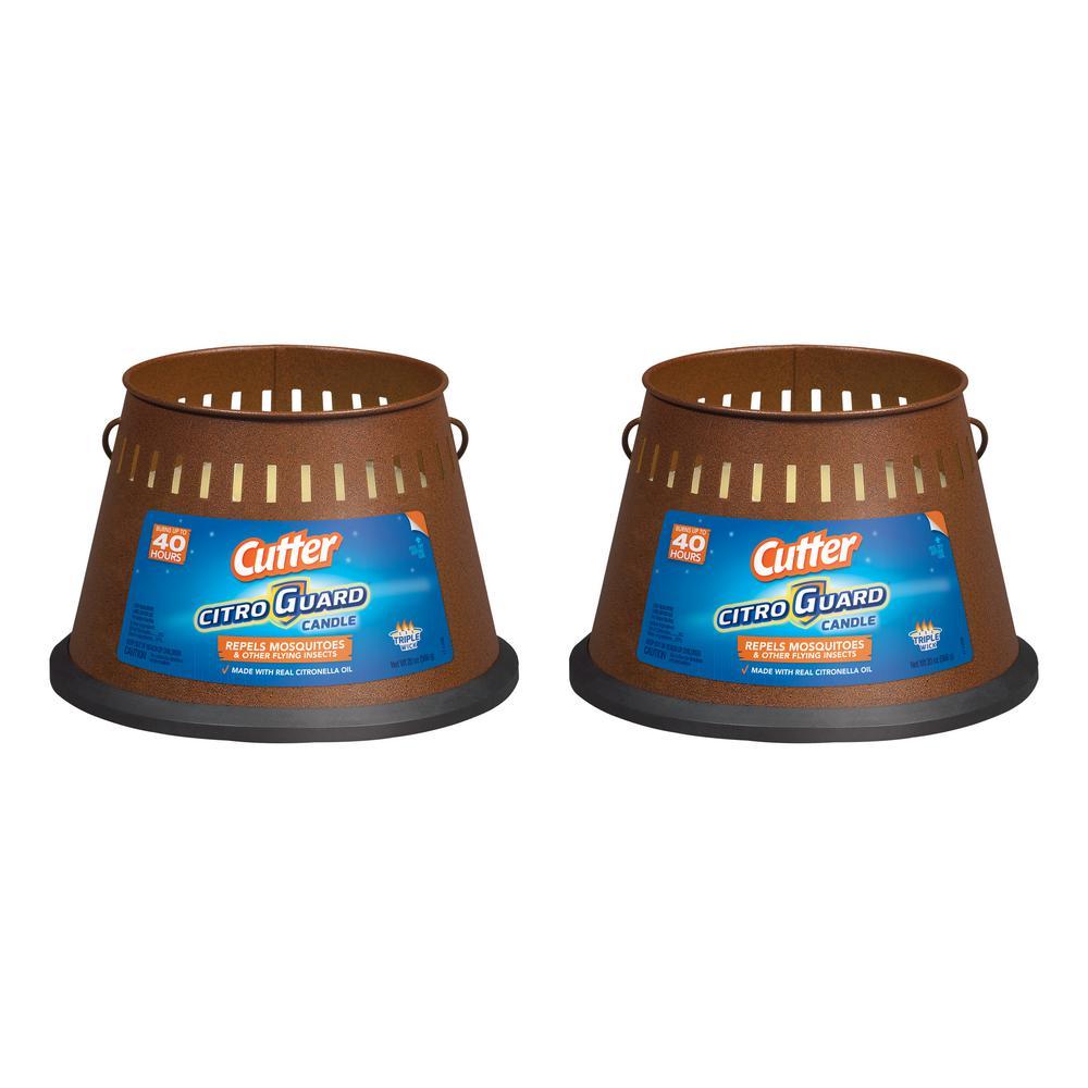 20 oz. CitroGuard Triple Wick Citronella Candle (2-Pack)