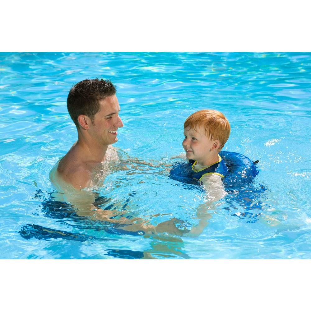 Blue Learn-to-Swim Swimming Pool Float Tube Trainer