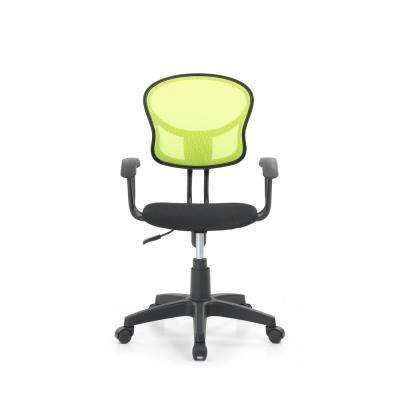 Green Mesh, Mid-Back, Adjustable Height, Swiveling Task Chair with Padded Seat