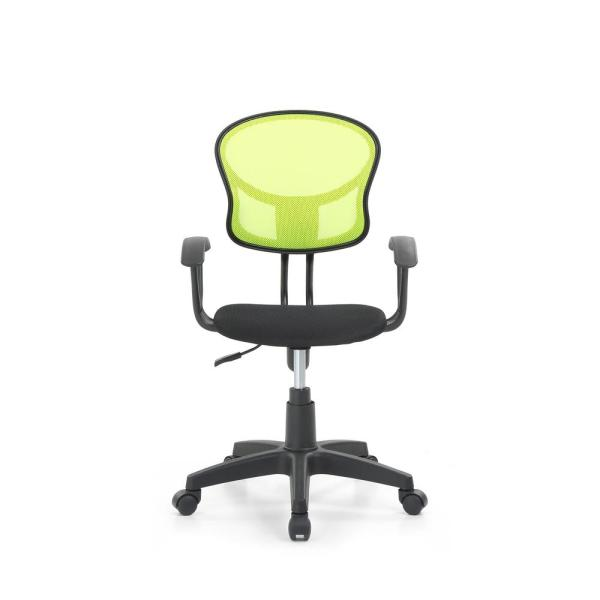 HODEDAH Green Mesh, Mid-Back, Adjustable Height, Swiveling Task Chair with Padded Seat