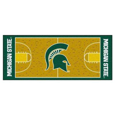 NCAA Michigan State University Cream 2 ft. 6 in. x 6 ft. Basketball Runner