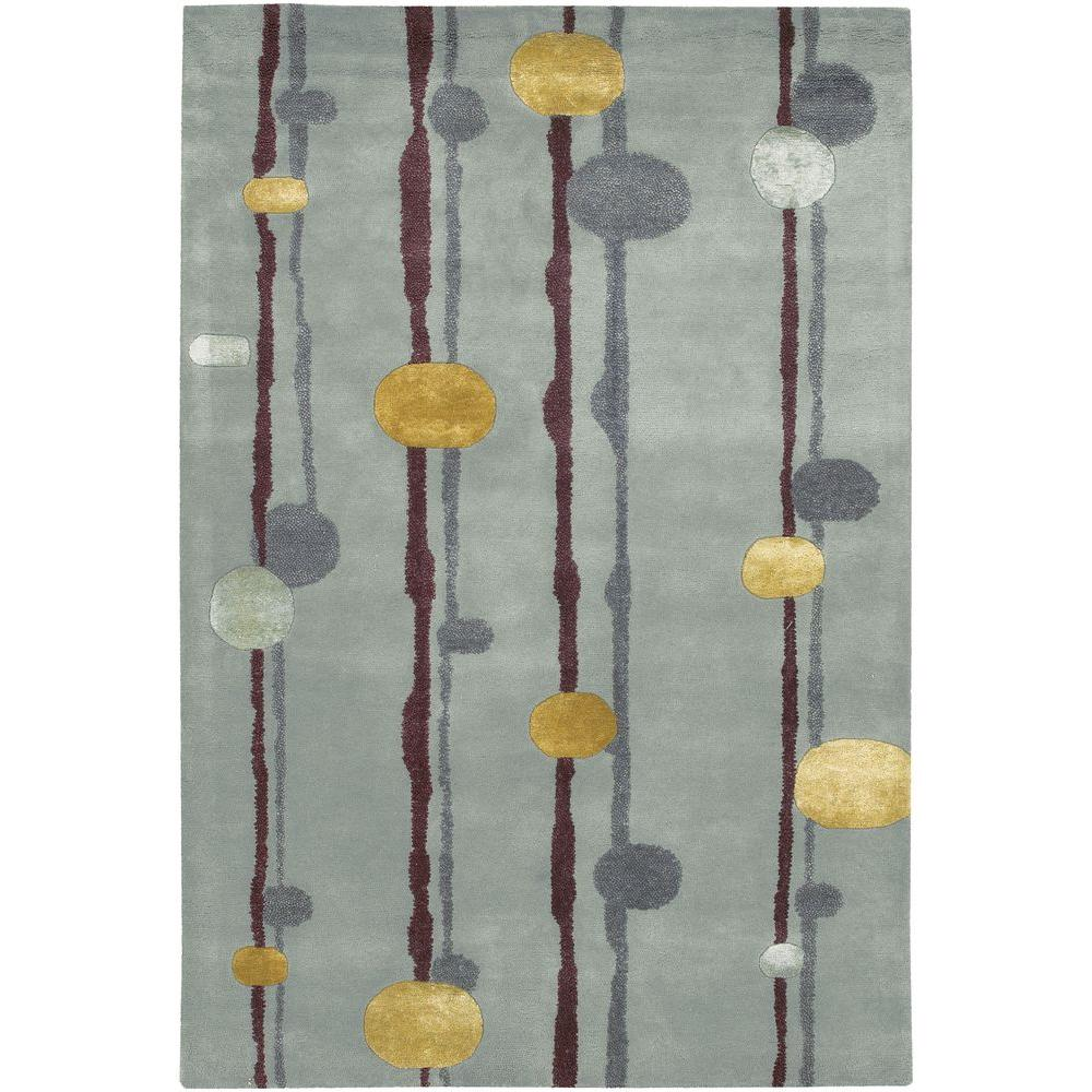 Lost Link Grey/Gold/Burgundy 5 ft. x 7 ft. 6 in. Indoor