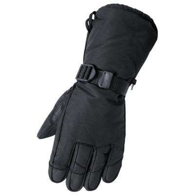 Deerskin Gauntlet Medium Black Glove