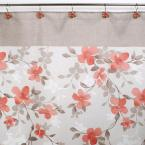 Saturday Knight Coral Garden Floral 72 in. Polyester Shower Curtain
