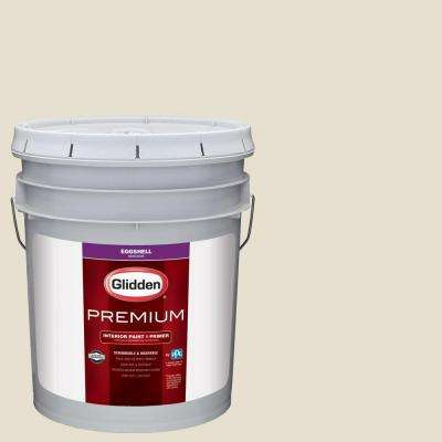 5 gal. #HDGWN57 Meeting House White Eggshell Interior Paint with Primer