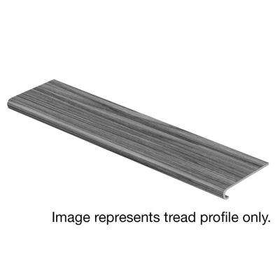 Grey Wood Tile 47 in. Length x 12-1/8 in. Deep x 1-11/16 in. Height Vinyl Overlay to Cover Stairs 1 in. Thick