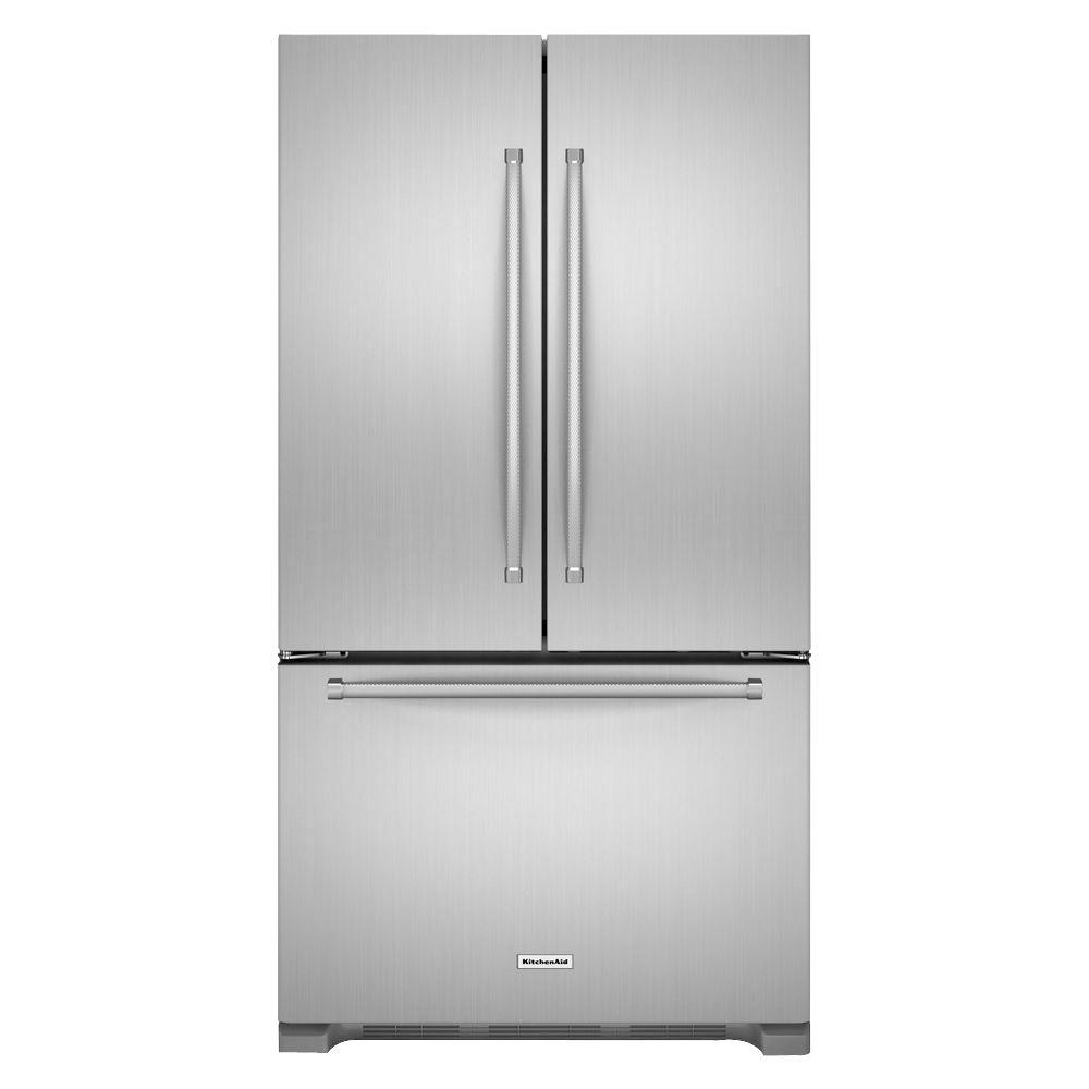 Kitchenaid Refrigerator White Kitchenaid 25.2 Cuftfrench Door Refrigerator In Stainless