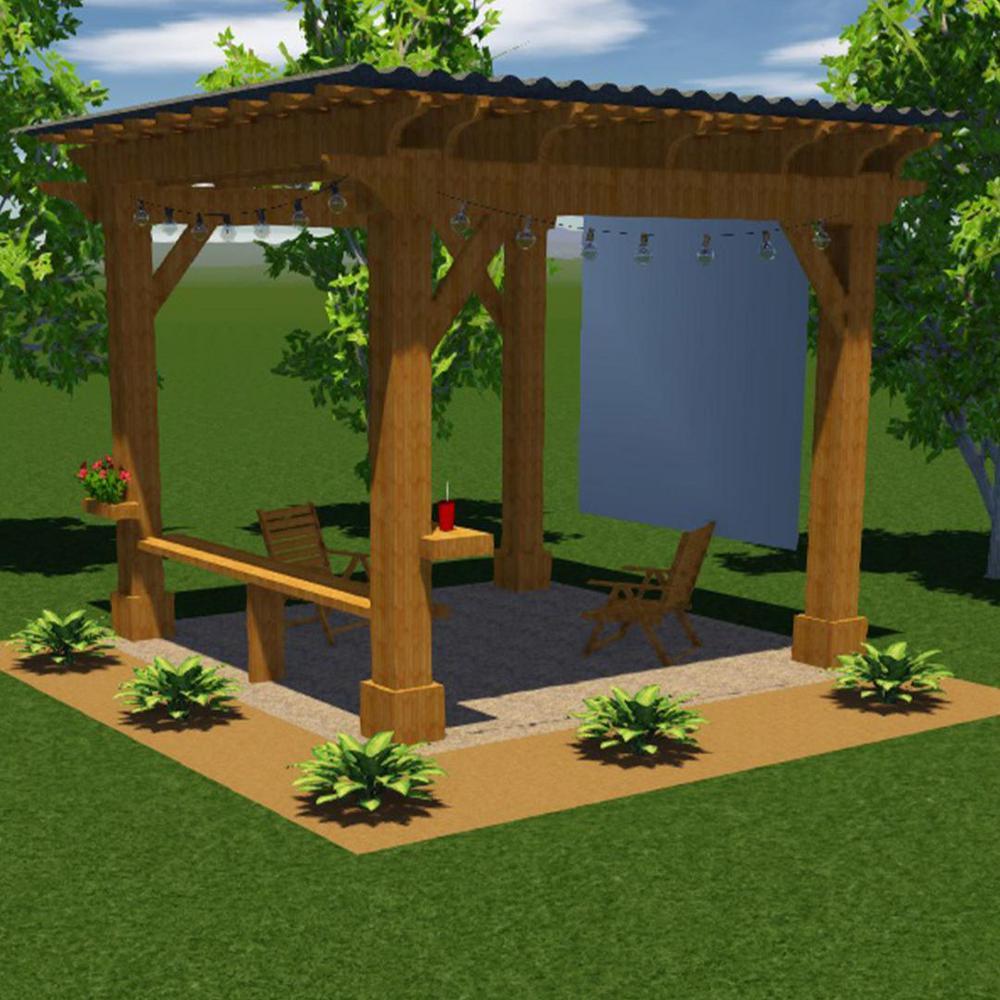 12 ft. x 12 ft. Quality Built Cedar Pergola