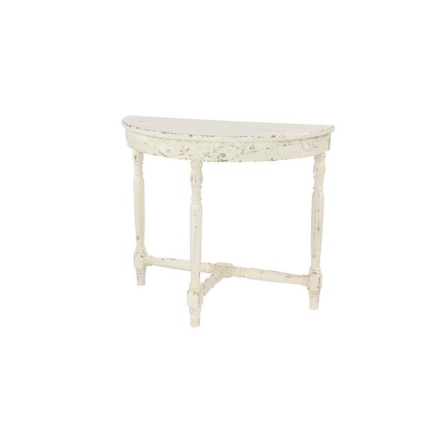Alabaster White Vintage Console Table