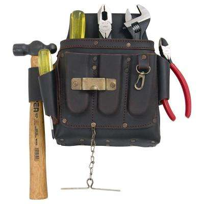 Leather Industrial Wrench, Drivers, Ball Hammer & Plier Set (6-Piece)