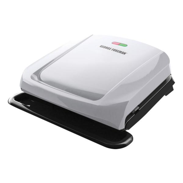 Black George Foreman 5 Serving Removable Plate Electric Grill and Panini Press