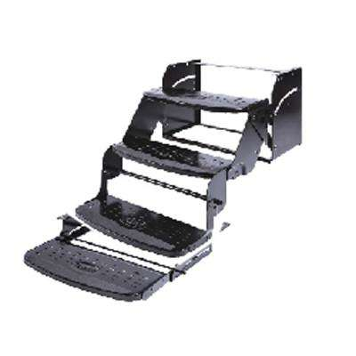24 in. Quad 8 in. Rise Manual Coach Steps by Flexco