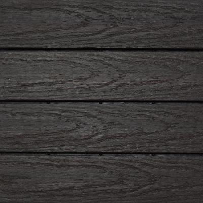 UltraShield Naturale 1 ft. x 1 ft. Quick Deck Outdoor Composite Deck Tile Sample in Indonesian Merbau