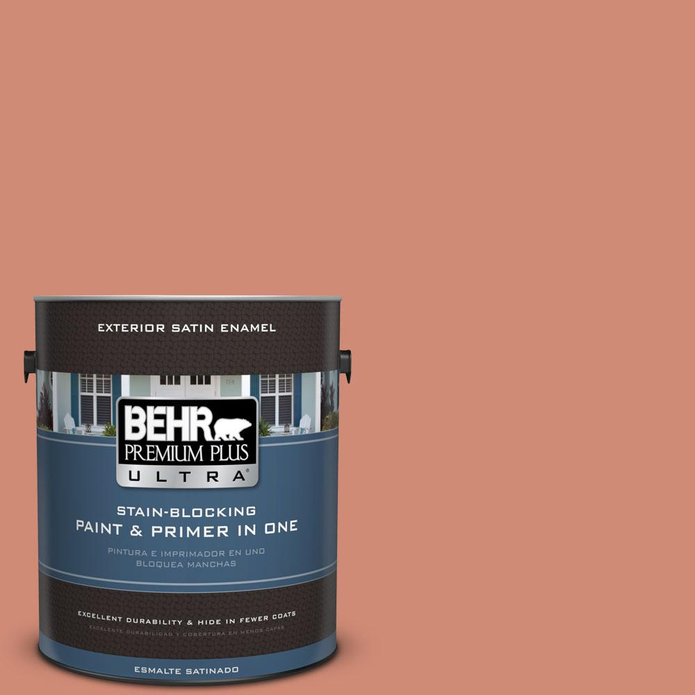 BEHR Premium Plus Ultra 1-gal. #M190-5 Fireplace Glow Satin Enamel Exterior Paint