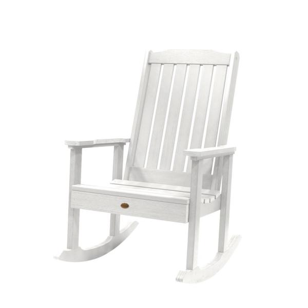 Lehigh White Recycled Plastic Outdoor Rocking Chair