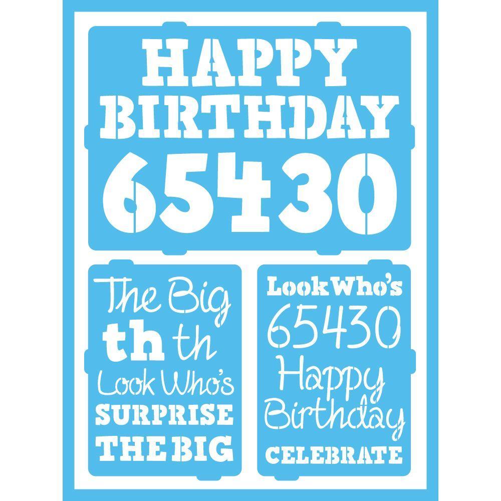 Birthday Milestones Self-Adhesive Stencil