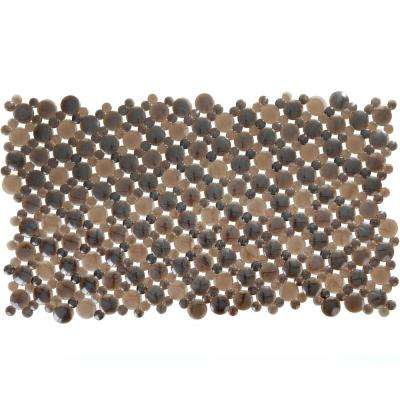 17 in. x 30 in. Burst of Bubbles Bath Mat in Bronze