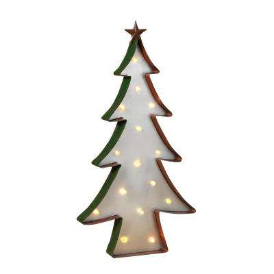 24 in. H Battery Operated Color Changing Tree