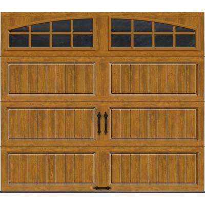 Gallery Collection 8 ft. x 7 ft. 18.4 R-Value Intellicore Insulated Ultra-Grain Medium Garage Door with Arch Window