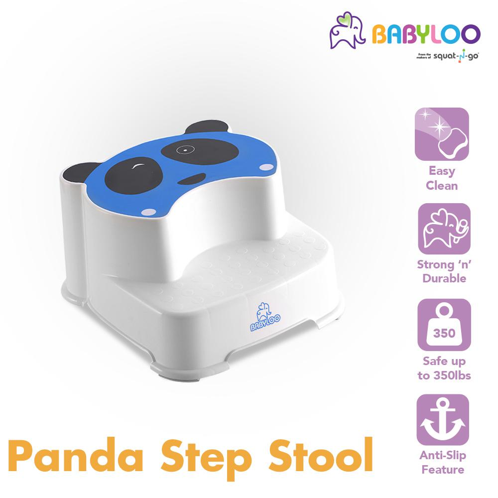 Fantastic Babyloo Childrens Panda Step Stool In Blue Pabps2019 Chair Design Images Pabps2019Com