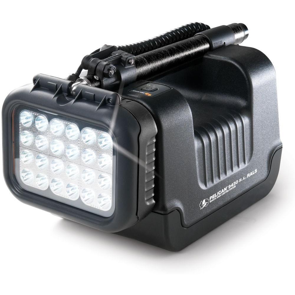 Pelican 9430SL Remote Area Lighting System Single Head Spotlight - Black -DISCONTINUED