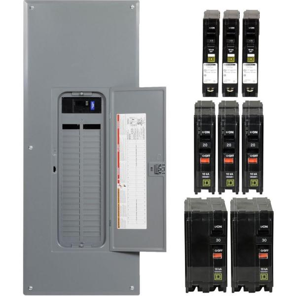 QO 200 Amp 42-Space 52-Circuit Indoor Main Breaker Plug-On Neutral Load Center with Cover - Value Pack