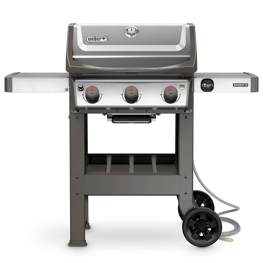weber spirit ii s 310 3 burner natural gas grill in stainless steel 49000001 the home depot. Black Bedroom Furniture Sets. Home Design Ideas