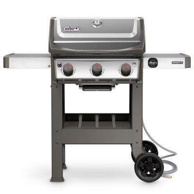 Spirit II S-310 3-Burner Natural Gas Grill in Stainless Steel