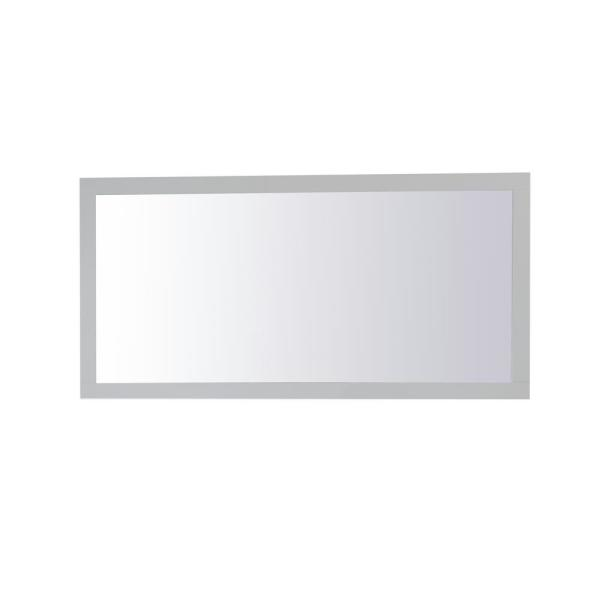 Medium Rectangle Grey Contemporary Mirror (36 in. H x 72 in. W)