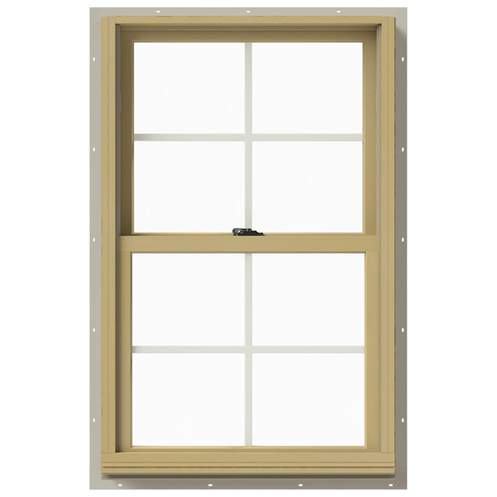 Jeld wen in x 40 in w 2500 double hung aluminum for 10 x 40 window