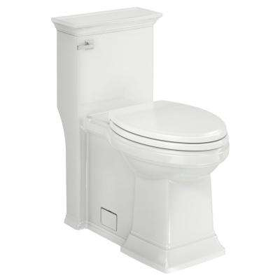 Town Square S 1-Piece 1.28 GPF Single Flush Elongated Toilet in White, Seat Included