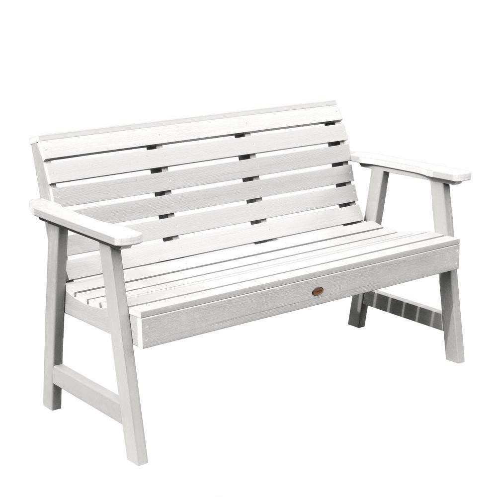 Highwood Weatherly 48 In 2 Person Whiterecycled Plastic