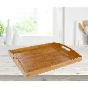 16.87 in. x 11.62 in. x 2.25 in. Home Basics Serving Tray